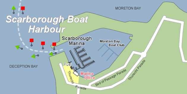 scarborough boat harbour maps