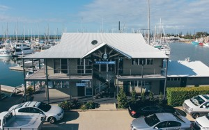 Our Redcliffe marina office from above!